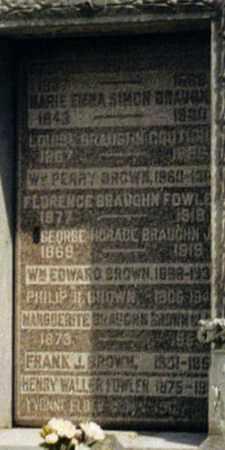 BRAUGHN BROWN, MARGUERITE - Orleans County, Louisiana   MARGUERITE BRAUGHN BROWN - Louisiana Gravestone Photos