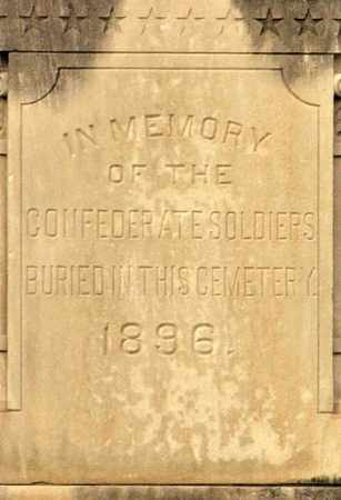 * CONFEDERATE SOLDIERS PLACQUE, .PHOTO PROVIDED BY DAVID M HABBEN - DHABBEN@AOL.COM - Ouachita County, Louisiana | .PHOTO PROVIDED BY DAVID M HABBEN - DHABBEN@AOL.COM * CONFEDERATE SOLDIERS PLACQUE - Louisiana Gravestone Photos