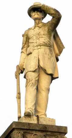 * CONFEDERATE MONUMENT, CLOSEUP - Ouachita County, Louisiana | CLOSEUP * CONFEDERATE MONUMENT - Louisiana Gravestone Photos