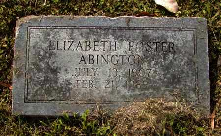 FOSTER ABINGTON, ELIZABETH - Ouachita County, Louisiana | ELIZABETH FOSTER ABINGTON - Louisiana Gravestone Photos