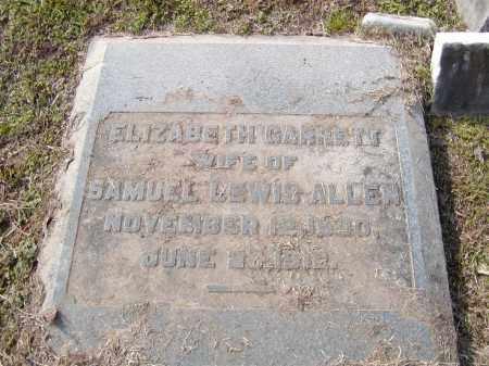 GARRETT ALLEN, ELIZABETH - Ouachita County, Louisiana | ELIZABETH GARRETT ALLEN - Louisiana Gravestone Photos