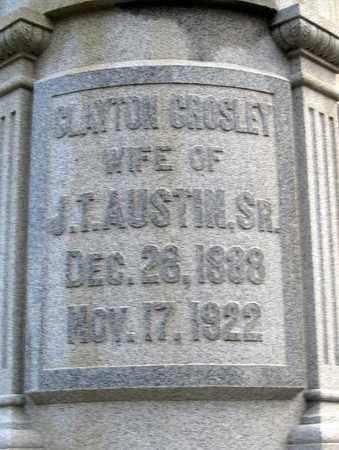 CROSLEY AUSTIN, CLAYTON (CLOSE UP) - Ouachita County, Louisiana | CLAYTON (CLOSE UP) CROSLEY AUSTIN - Louisiana Gravestone Photos