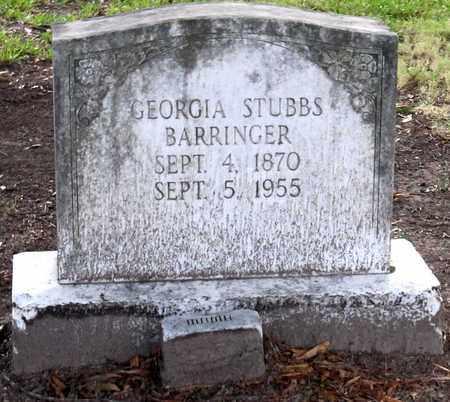 STUBBS BARRINGER, GEORGIA - Ouachita County, Louisiana | GEORGIA STUBBS BARRINGER - Louisiana Gravestone Photos