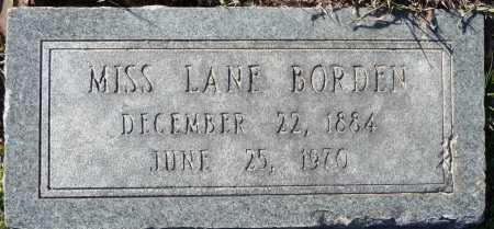 BORDEN, LANE - Ouachita County, Louisiana | LANE BORDEN - Louisiana Gravestone Photos