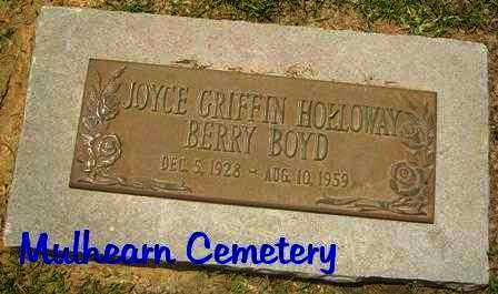BOYD, JOYCE GRIFFIN HOLLOWAY BERRY - Ouachita County, Louisiana | JOYCE GRIFFIN HOLLOWAY BERRY BOYD - Louisiana Gravestone Photos