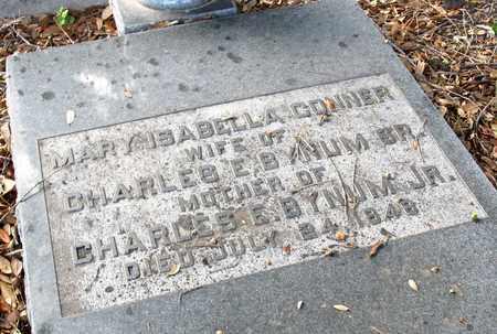 CONNER BYNUM, MARY ISABELLA (CLOSE UP) - Ouachita County, Louisiana | MARY ISABELLA (CLOSE UP) CONNER BYNUM - Louisiana Gravestone Photos