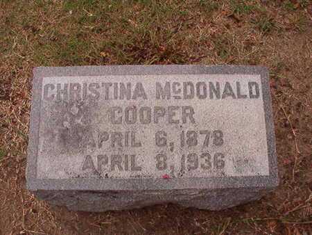 MCDONALD COOPER, CHRISTINA - Ouachita County, Louisiana | CHRISTINA MCDONALD COOPER - Louisiana Gravestone Photos