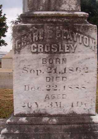 CROSLEY, CHARLIE CLAYTON (CLOSE UP) - Ouachita County, Louisiana   CHARLIE CLAYTON (CLOSE UP) CROSLEY - Louisiana Gravestone Photos