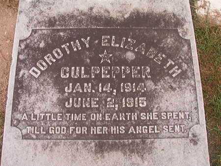 CULPEPPER, DOROTHY ELIZABETH - Ouachita County, Louisiana | DOROTHY ELIZABETH CULPEPPER - Louisiana Gravestone Photos