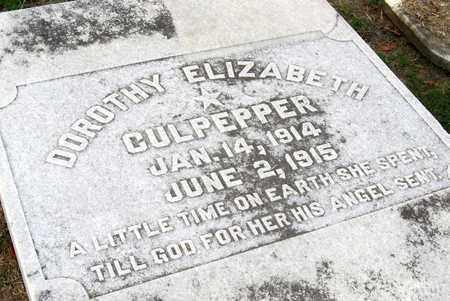 CULPEPPER, DOROTHY ELIZABETH (CLOSE UP) - Ouachita County, Louisiana | DOROTHY ELIZABETH (CLOSE UP) CULPEPPER - Louisiana Gravestone Photos
