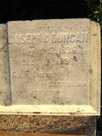 DUNCAN, JOSEPH C (VETERAN CSA) (CLOSE UP) - Ouachita County, Louisiana | JOSEPH C (VETERAN CSA) (CLOSE UP) DUNCAN - Louisiana Gravestone Photos