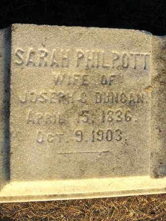 PHILPOT DUNCAN, SARAH  (CLOSE UP) - Ouachita County, Louisiana | SARAH  (CLOSE UP) PHILPOT DUNCAN - Louisiana Gravestone Photos