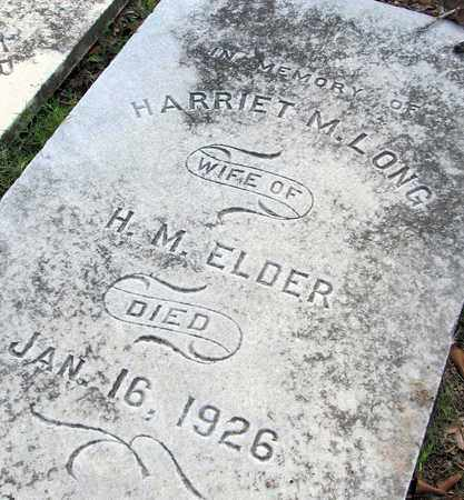 LONG ELDER, HARRIET M (CLOSE UP) - Ouachita County, Louisiana | HARRIET M (CLOSE UP) LONG ELDER - Louisiana Gravestone Photos