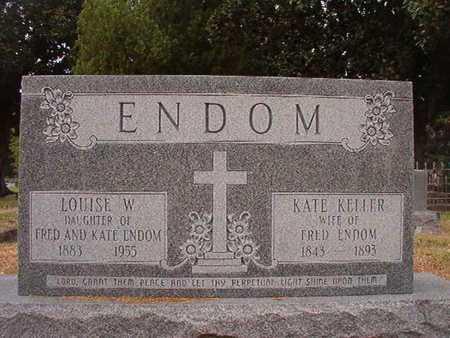 ENDOM, KATE - Ouachita County, Louisiana | KATE ENDOM - Louisiana Gravestone Photos