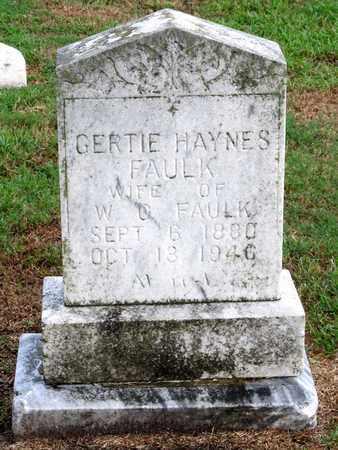 FAULK, GERTIE - Ouachita County, Louisiana   GERTIE FAULK - Louisiana Gravestone Photos