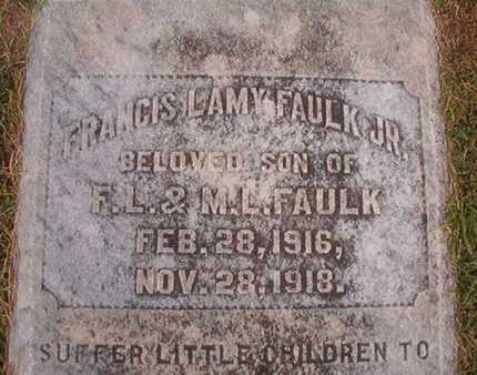 FAULK, FRANCIS LAMY, JR (CLOSE UP) - Ouachita County, Louisiana | FRANCIS LAMY, JR (CLOSE UP) FAULK - Louisiana Gravestone Photos