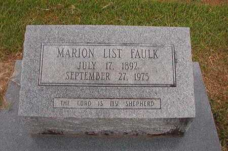 LIST FAULK, MARION - Ouachita County, Louisiana | MARION LIST FAULK - Louisiana Gravestone Photos