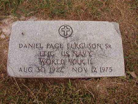 FERGUSON, DANIEL PAGE , SR (VETERAN WWII) - Ouachita County, Louisiana | DANIEL PAGE , SR (VETERAN WWII) FERGUSON - Louisiana Gravestone Photos
