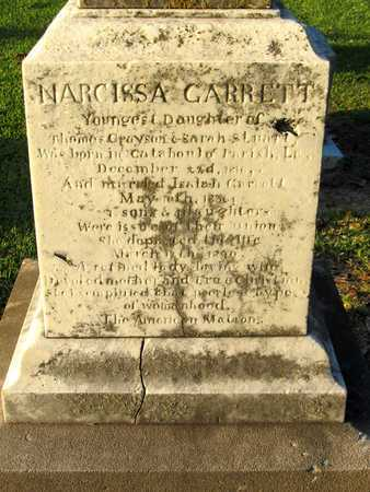 GARRETT, NARCISSA (CLOSE UP) - Ouachita County, Louisiana | NARCISSA (CLOSE UP) GARRETT - Louisiana Gravestone Photos