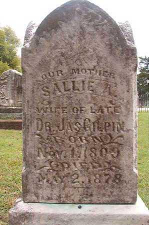 GILPIN, SALLIE A (CLOSE UP) - Ouachita County, Louisiana | SALLIE A (CLOSE UP) GILPIN - Louisiana Gravestone Photos