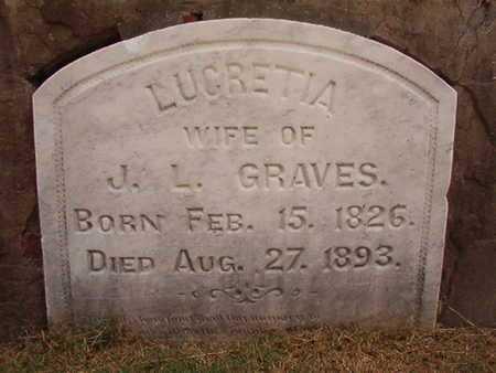 GRAVES, LUCRETIA - Ouachita County, Louisiana | LUCRETIA GRAVES - Louisiana Gravestone Photos