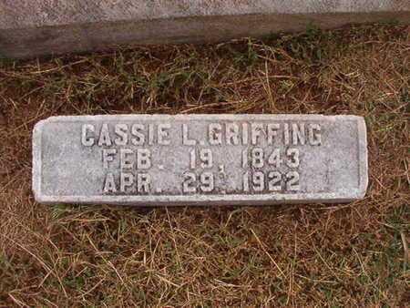GRIFFING, CASSIE L - Ouachita County, Louisiana | CASSIE L GRIFFING - Louisiana Gravestone Photos