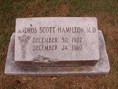 HAMILTON, MD, ANDROS SCOTT - Ouachita County, Louisiana | ANDROS SCOTT HAMILTON, MD - Louisiana Gravestone Photos