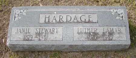 STEWART HARDAGE, JANIE - Ouachita County, Louisiana | JANIE STEWART HARDAGE - Louisiana Gravestone Photos
