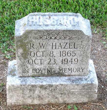 HAZEL, R W - Ouachita County, Louisiana | R W HAZEL - Louisiana Gravestone Photos