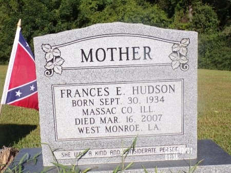 HUDSON, FRANCES E - Ouachita County, Louisiana | FRANCES E HUDSON - Louisiana Gravestone Photos