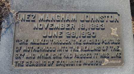MANGHAM JOHNSTON, INEZ - Ouachita County, Louisiana | INEZ MANGHAM JOHNSTON - Louisiana Gravestone Photos