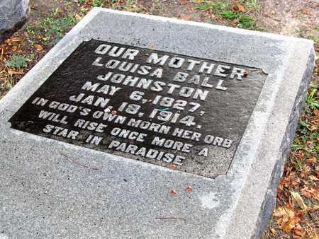 BALL JOHNSTON, LOUISA (CLOSE UP) - Ouachita County, Louisiana | LOUISA (CLOSE UP) BALL JOHNSTON - Louisiana Gravestone Photos