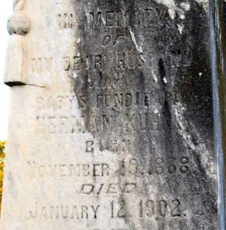 KUHN, HERMAN (CLOSE UP) - Ouachita County, Louisiana | HERMAN (CLOSE UP) KUHN - Louisiana Gravestone Photos