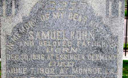 KUHN, SAMUEL (CLOSE UP) - Ouachita County, Louisiana | SAMUEL (CLOSE UP) KUHN - Louisiana Gravestone Photos
