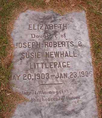 LITTLEPAGE, ELIZABETH - Ouachita County, Louisiana | ELIZABETH LITTLEPAGE - Louisiana Gravestone Photos