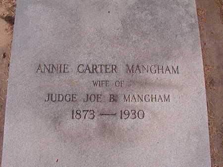 CARTER MANGHAM, ANNIE - Ouachita County, Louisiana   ANNIE CARTER MANGHAM - Louisiana Gravestone Photos
