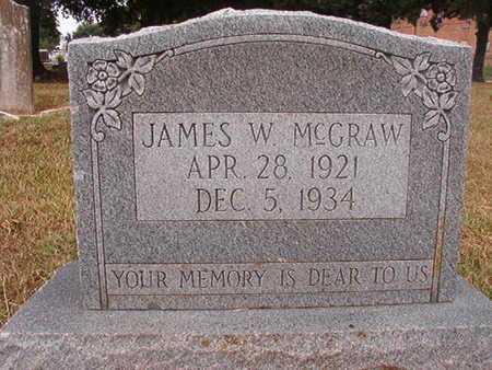 MCGRAW, JAMES W - Ouachita County, Louisiana | JAMES W MCGRAW - Louisiana Gravestone Photos