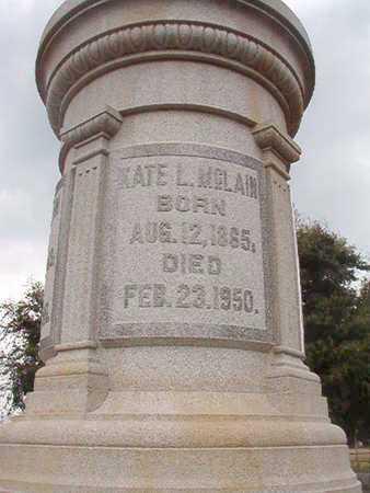MCLAIN, KATE L - Ouachita County, Louisiana | KATE L MCLAIN - Louisiana Gravestone Photos