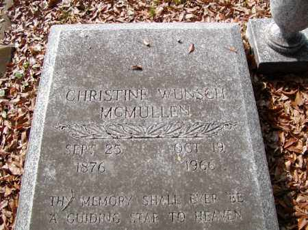 WUNSCH MCMULLEN, CHRISTINE - Ouachita County, Louisiana | CHRISTINE WUNSCH MCMULLEN - Louisiana Gravestone Photos