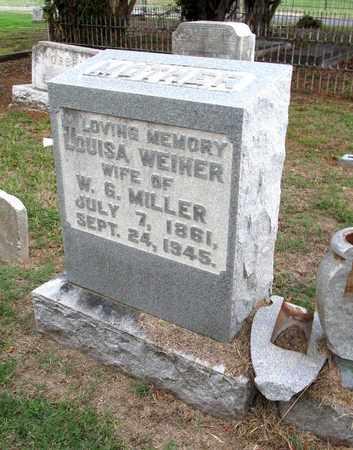 WEIHER MILLER, LOUISA - Ouachita County, Louisiana | LOUISA WEIHER MILLER - Louisiana Gravestone Photos