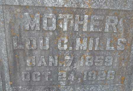 MILLS, LOU C (CLOSE UP) - Ouachita County, Louisiana | LOU C (CLOSE UP) MILLS - Louisiana Gravestone Photos