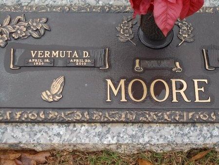 MOORE, VERMUTA D - Ouachita County, Louisiana   VERMUTA D MOORE - Louisiana Gravestone Photos