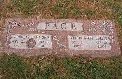 GULLEY PAGE, VIRGINIA LEE - Ouachita County, Louisiana | VIRGINIA LEE GULLEY PAGE - Louisiana Gravestone Photos