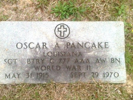PANCAKE, OSCAR A  (VETERAN WWII) - Ouachita County, Louisiana | OSCAR A  (VETERAN WWII) PANCAKE - Louisiana Gravestone Photos
