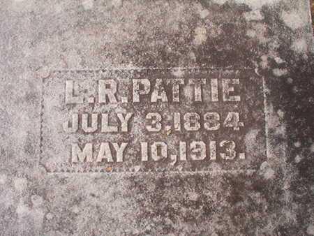 PATTIE, L R - Ouachita County, Louisiana | L R PATTIE - Louisiana Gravestone Photos