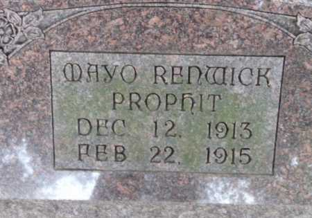 PROPHIT, MAYO RENWICK - Ouachita County, Louisiana | MAYO RENWICK PROPHIT - Louisiana Gravestone Photos