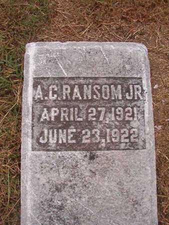 RANSOM, A C, JR - Ouachita County, Louisiana   A C, JR RANSOM - Louisiana Gravestone Photos