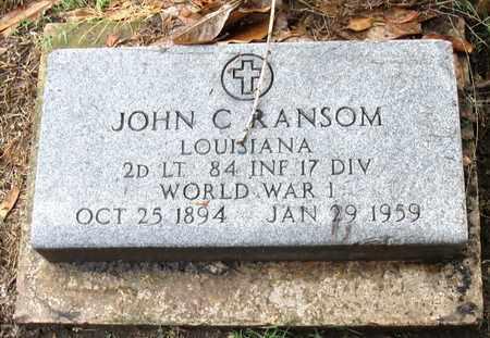 RANSOM, JOHN C (VETERAN WW) - Ouachita County, Louisiana | JOHN C (VETERAN WW) RANSOM - Louisiana Gravestone Photos