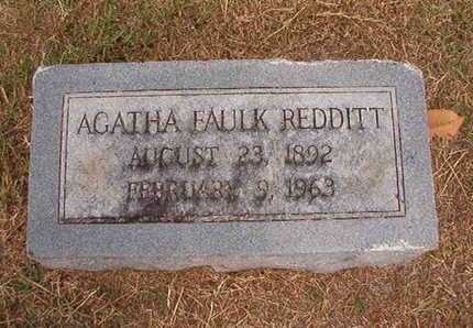 FAULK REDDITT, AGATHA - Ouachita County, Louisiana | AGATHA FAULK REDDITT - Louisiana Gravestone Photos