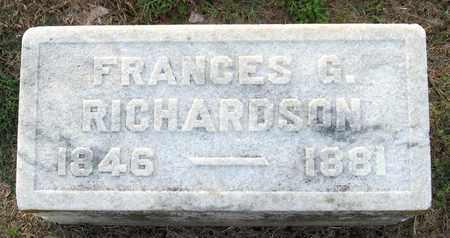 RICHARDSON, FRANCES G - Ouachita County, Louisiana | FRANCES G RICHARDSON - Louisiana Gravestone Photos